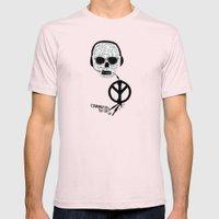 Love' skull -  a collaboration between Sam Guilhen and Gwenola de Muralt - Mens Fitted Tee Light Pink SMALL