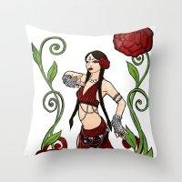 Bellydance: Queen Of Hea… Throw Pillow