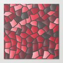 Red and Black Mosaic Canvas Print