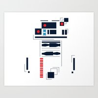 R2D2 Abstract Art Print