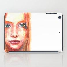 Portrait - RedHair & Freckles iPad Case