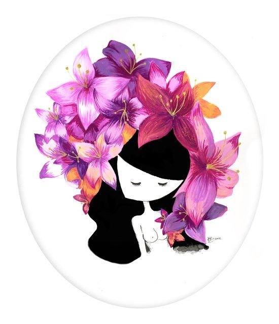 Flowers in my Head Art Print