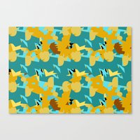 Flakes Deep Canvas Print
