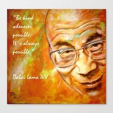 Dalai Lama - Quote Canvas Print