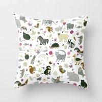 Animal Chart Throw Pillow