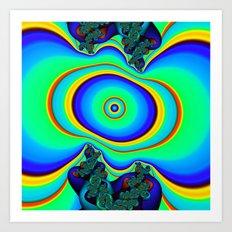 Rainbow Frequency Art Print