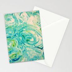 marbling twirl Stationery Cards
