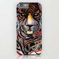 tiger iPhone & iPod Cases featuring Tiger by Felicia Atanasiu