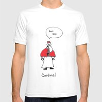 Cardinal Mens Fitted Tee White SMALL