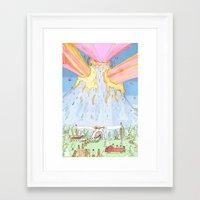The Mountian. Framed Art Print