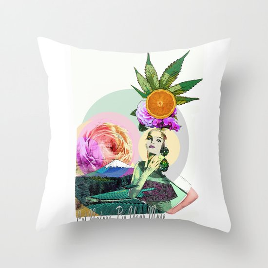Let Nature Be Your Muse Throw Pillow