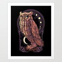 Owl Nouveau Art Print