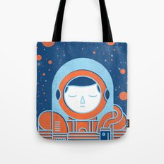 Orange Space Tote Bag