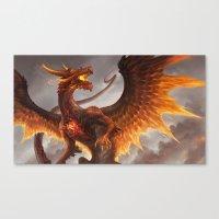 Red Crystal Dragon Canvas Print