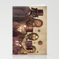 portrait Stationery Cards featuring Victorian Wars  by Terry Fan