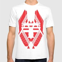 Geometric 1 Mens Fitted Tee White SMALL