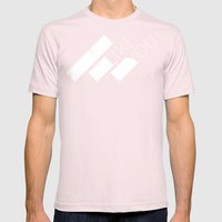 I Like You Graphik: White Type Mens Fitted Tee Light Pink SMALL