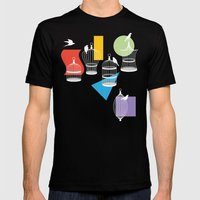 Cage Free Color Mens Fitted Tee Black SMALL