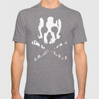Skullmelt Mens Fitted Tee Tri-Grey SMALL