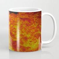 Fire on pixel (watercolor) Mug