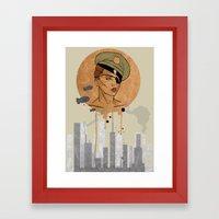 The Steam Captain  Framed Art Print