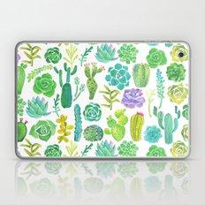 Watercolor cactus and succulent Laptop & iPad Skin