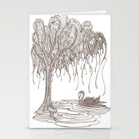 Stationery Card featuring Dreaming Tree by PiqueStudios