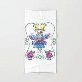 Hand & Bath Towel - Angel Kitty - Shelley Ylst Art