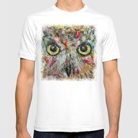 Mystic Owl Mens Fitted Tee White SMALL