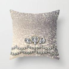 Diamonds and sparkles I Throw Pillow