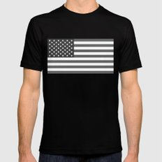 United states national flag  in Black and White  Mens Fitted Tee Black SMALL