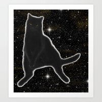 Kiki Kitty Cat in Outer Space Art Print
