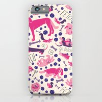 Park dogs in Pink iPhone 6 Slim Case