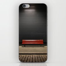 The red bench iPhone & iPod Skin