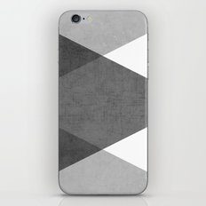 black and white triangles iPhone & iPod Skin