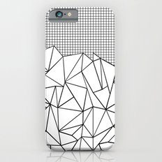 Abstract Outline Grid Black on White Slim Case iPhone 6s