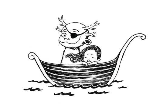 Adventure and sea sickness Art Print