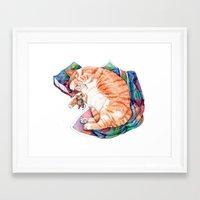 Zoi's Winter Nap Framed Art Print