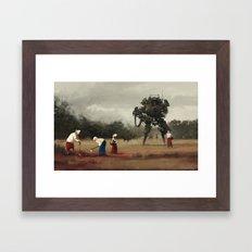 1920 - harvest Framed Art Print