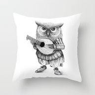 MISTER OWL Throw Pillow