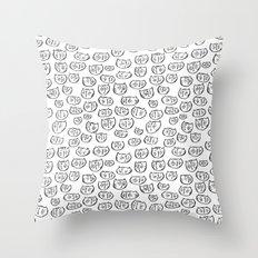 Fussy Cat Throw Pillow