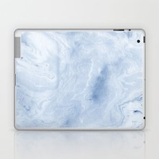 Yasuko - spilled ink japanese monoprint marble paper cell phone case with marble pattern blue pastel Laptop & iPad Skin