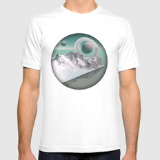 celestial horizon Mens Fitted Tee SMALL White