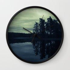 Lake by Night Wall Clock