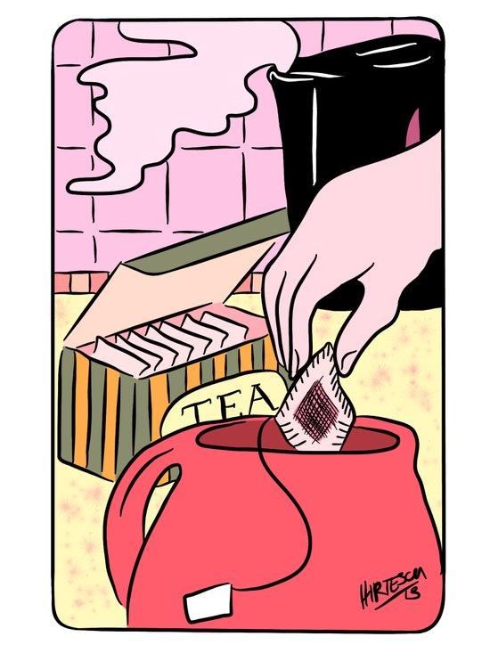 Making Tea: Choose your tea. Art Print