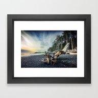 Framed Art Print featuring Approaching Mist by JMcCool