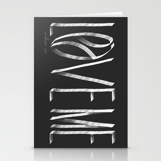Love Me or Leave Me Stationery Card