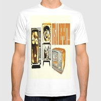 Throw Away Your Televisi… Mens Fitted Tee White SMALL