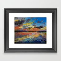 Key West Florida Sunset Framed Art Print