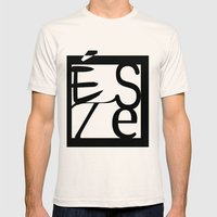 LOGO ESTE Mens Fitted Tee Natural SMALL